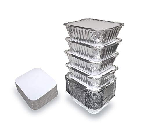 50 Baking Pans Amp 50 Foil Lids Disposable Food Containers