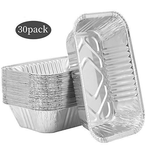 Aluminum Foil Pans 30 Pack Heavy Duty Aluminum Loaf Pans